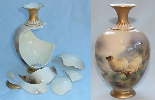 China repairs   Specialist ceramic restoration   Alan Franklin